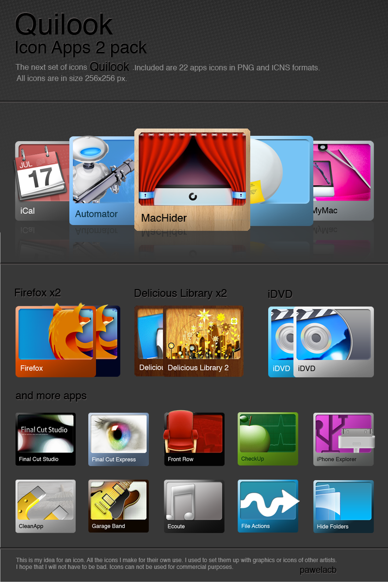 Quilook - 2 set apps icons