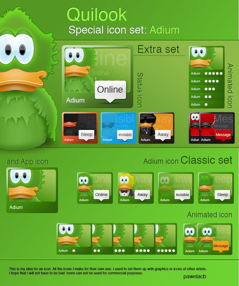 Quilook - Adium icon set by pawelacb