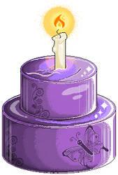 Pixel Animation: NF2U Purple Mirror Cake