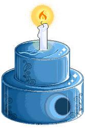 Pixel Animation: NF2U Blue Mirror Cake