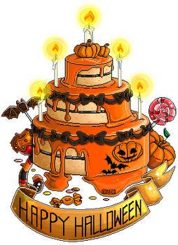 Halloween Pixel Cake