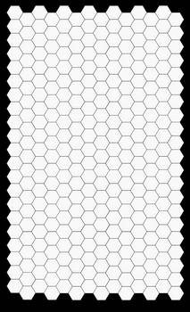 SVG of Legal size hexes