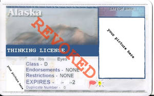 Alaska Thinking License by SudsySutherland