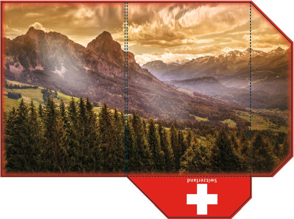 Swiss mountains A4 folder - print ready by webbugt