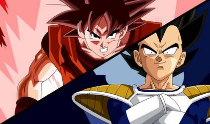 Dragon Ball Z Goku vs Vegeta by PokemonHunterD