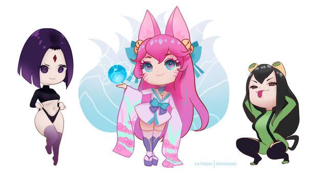 May 2021 Patreon characters