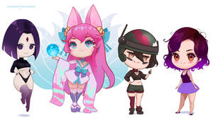 June 2021 Patreon characters