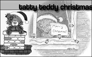 Tatty Teddy Christmas Brushes by pookahpie