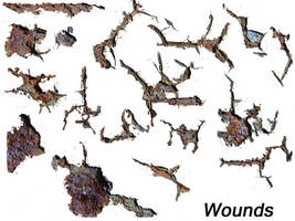 Wounds - transparent gifs by DeviantNepStock
