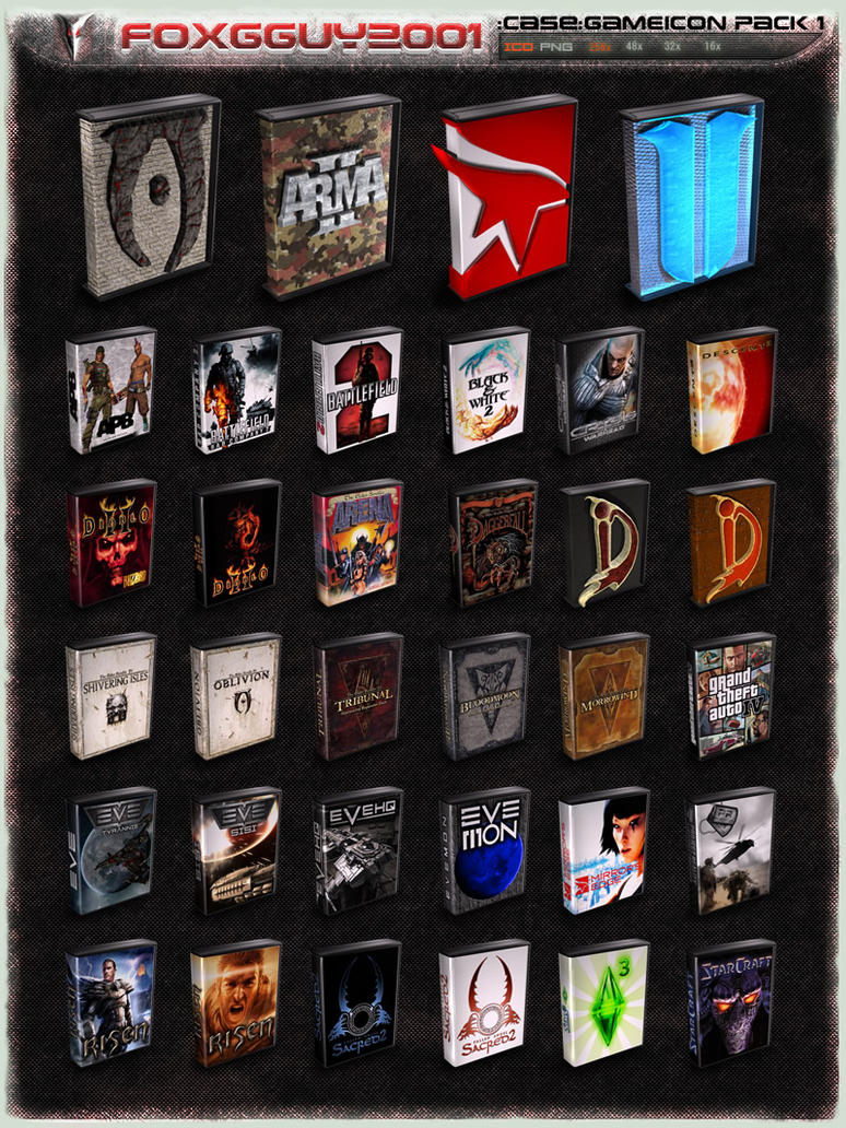 :case: GameIcon Pack 1 by foxgguy2001