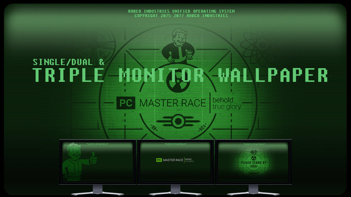 Fallout Dual Monitor Wallpaper: Single/Dual/Triple Monitor Wallpaper By