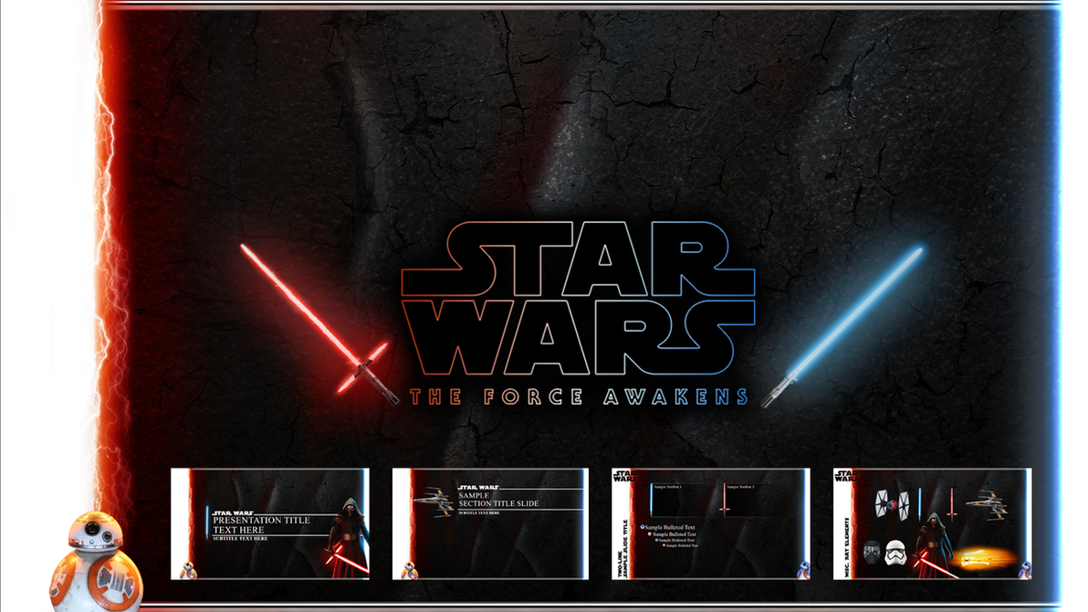 Star Wars The Force Awakens Powerpoint Template By Foxgguy2001 On