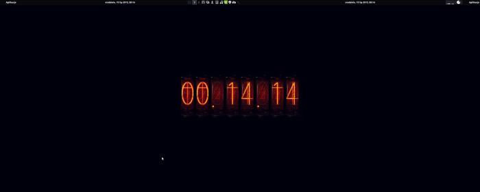 Steins Gate Divergence Meter Clock - Conky script