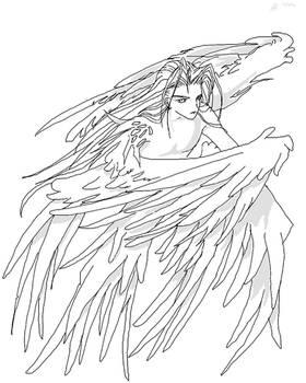 manga style angelic sephy