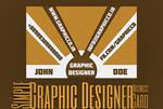 Simple Graphic Designer BusinessCard