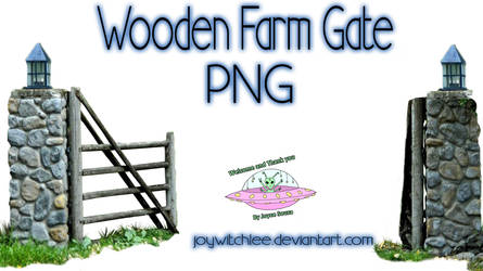 Wooden Farm Gate PNG