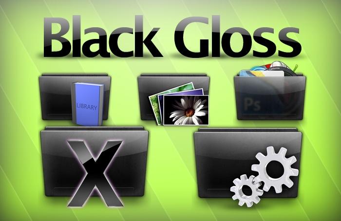 Black Glossy Icon Set