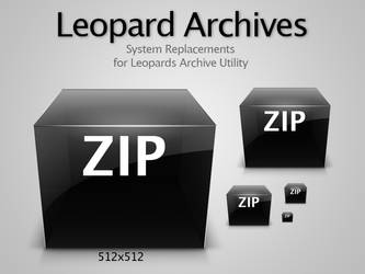 Leopard Archive Files Icons