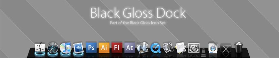 Black Gloss Dock