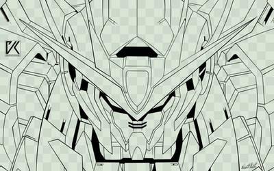 Gundam GN-0000 00 lineart
