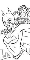 Batgirl Panel Art Inks
