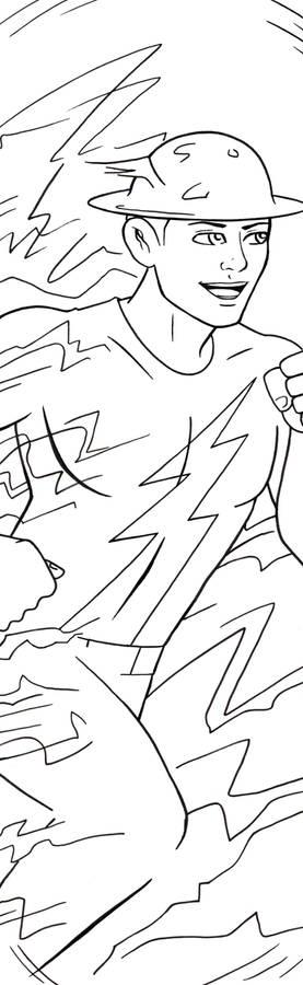 Flash Jay Garrick Art Inks