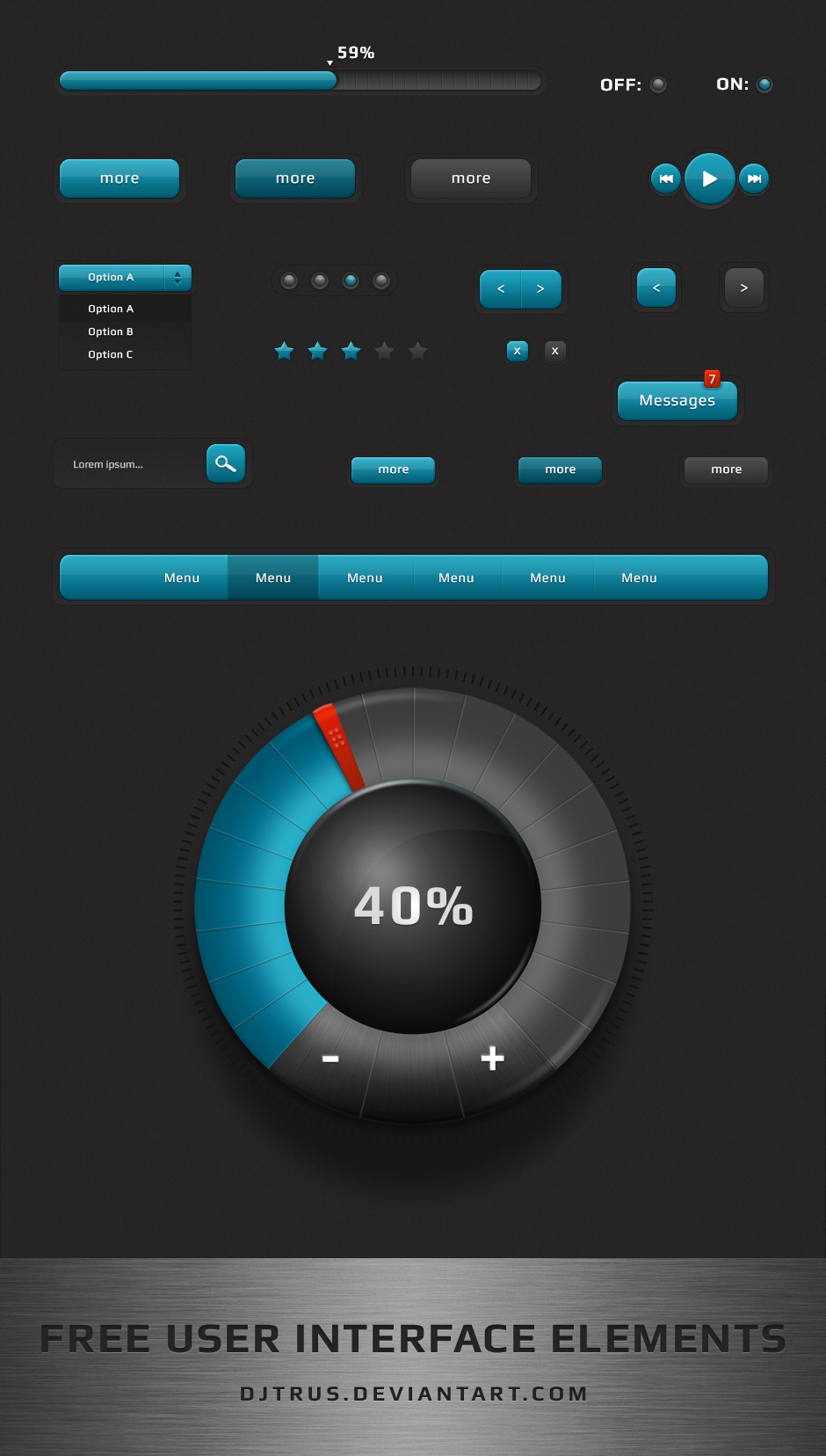 Free user interface elements