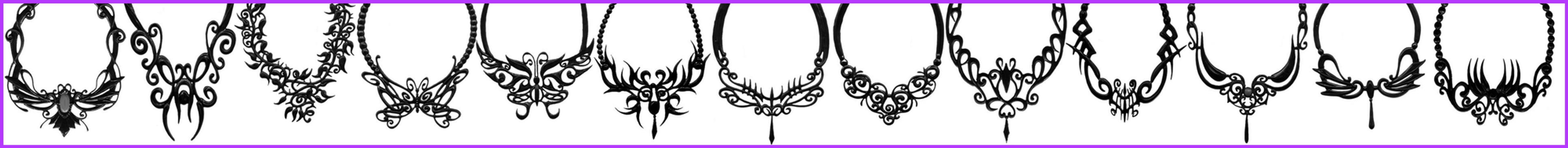 Gothic Necklaces 01 by wingsdesiredstock