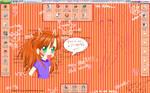 My Desktop + My Wallpaper by eizu
