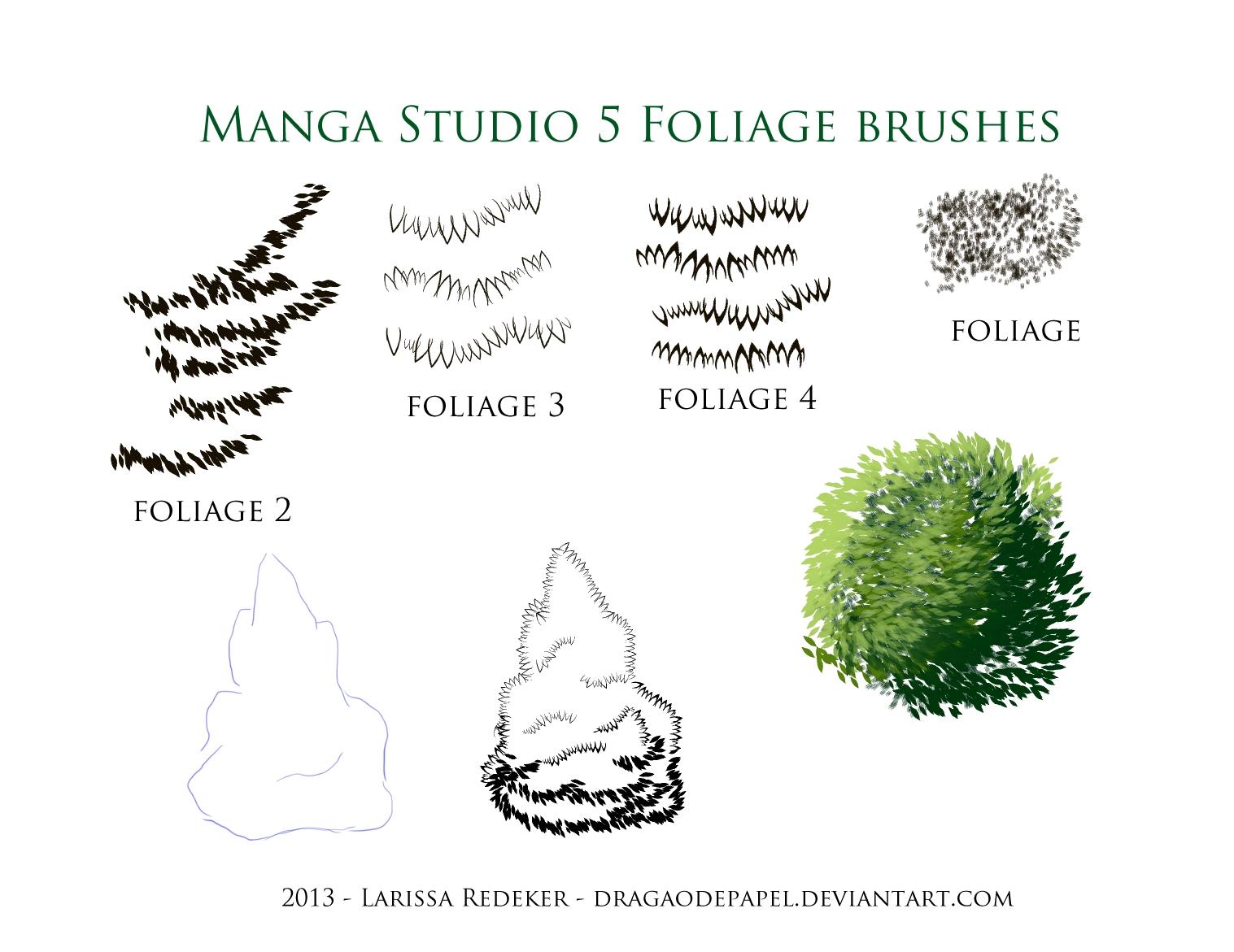 Foliage Brushes for Manga Studio 5