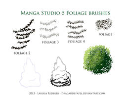 Foliage Brushes for Manga Studio 5