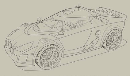 Lancia Stratos Vexel Line art resource