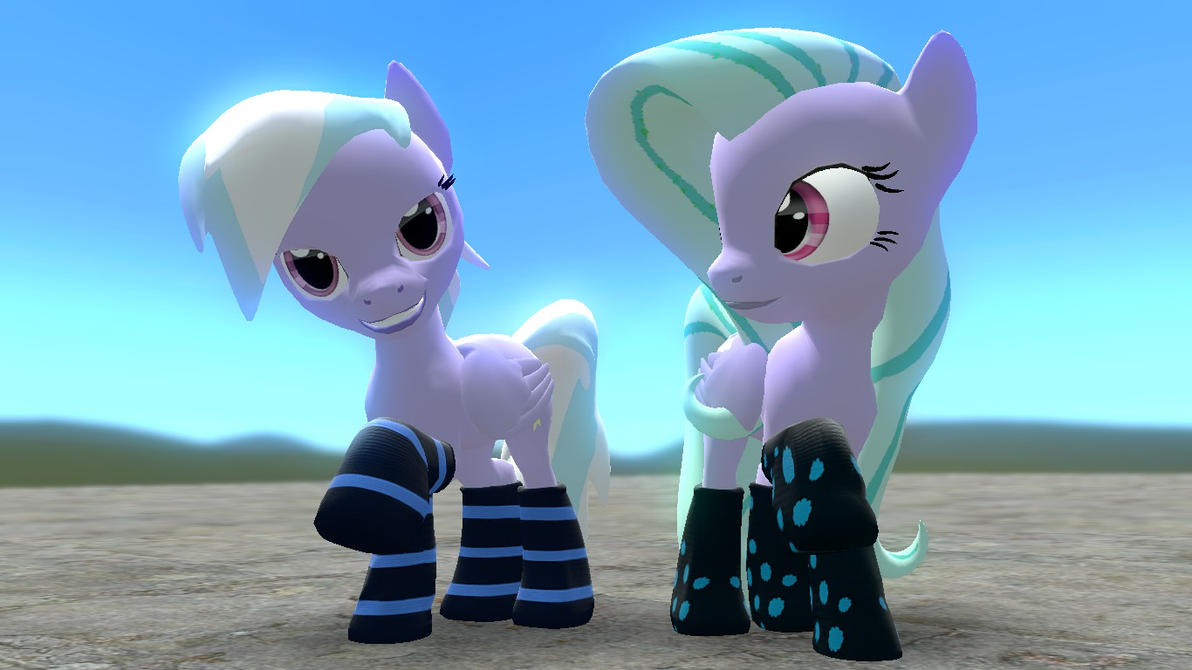 Flitter and Cloudchaser (Pony V3.1 compatible) by Legoguy9875