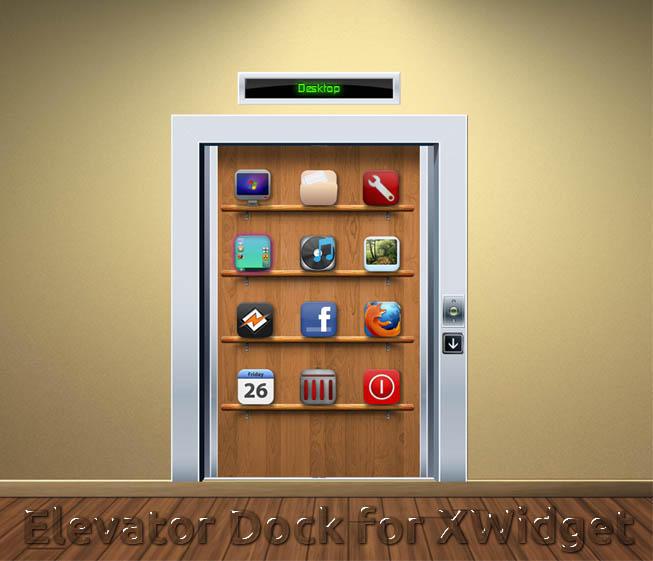 Elevator Dock for XWidget by boyzonet