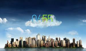 Cloudy Clock for XWidget