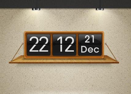 Shelf Clock for XWidget by boyzonet