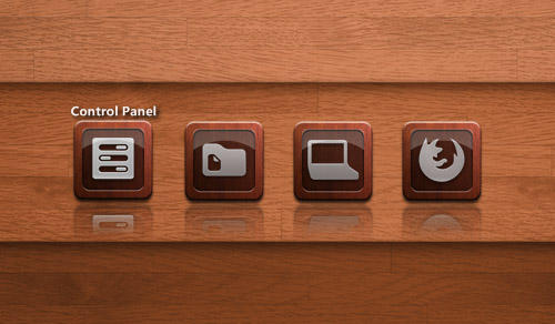 Wooden Shelf Shortcut for XWidget by boyzonet