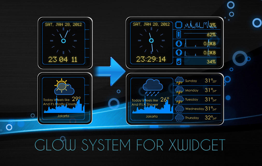 Glow System for XWidget by boyzonet