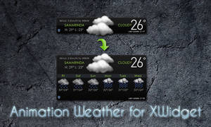Animation Weather for XWidget