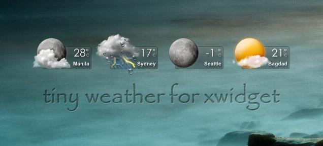 Tiny Weather for XWidget by boyzonet