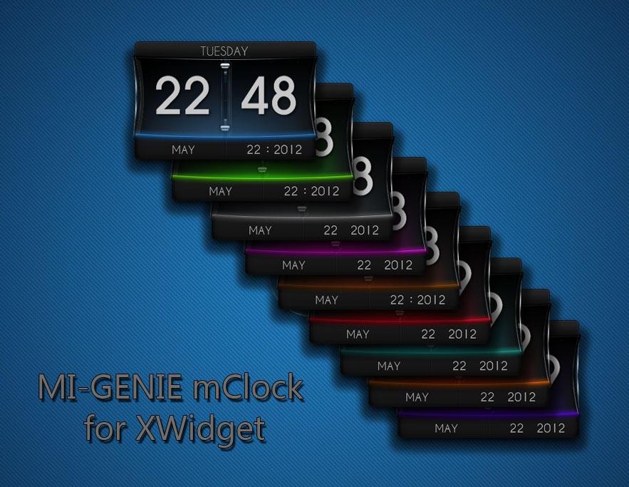 MI-GENIE mClock for XWidget by boyzonet