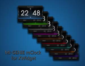 MI-GENIE mClock for XWidget