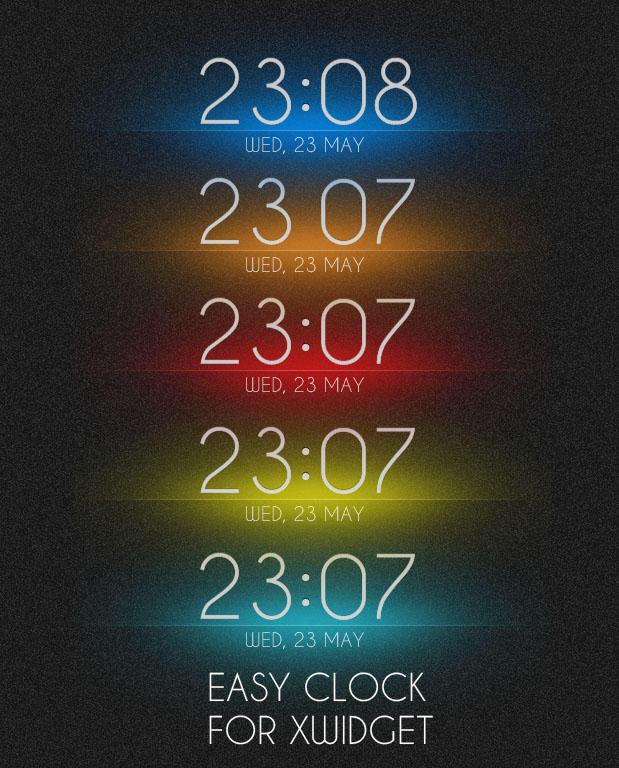 Easy Clock for XWidget by boyzonet