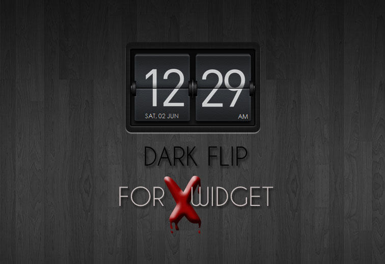 Dark Flip for XWidget by boyzonet