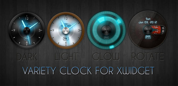 Variety Clock for XWidget