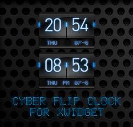 Cyber Flip Clock for XWidget