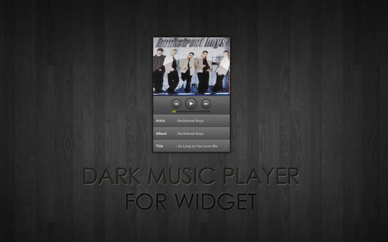 Dark Music Player for XWidget
