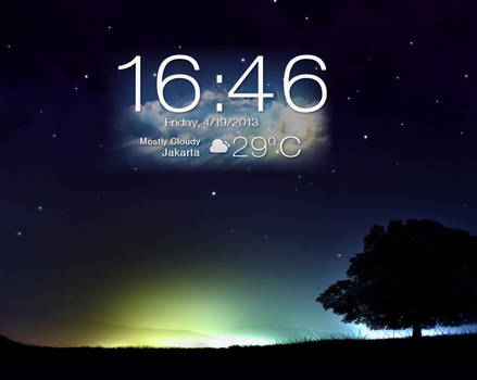 Asus Padfone 2 : Clock and Weather for Xwidget