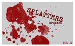 Splatter Brushes set. 2