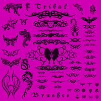 Tribal Tattoo Brushes by seraphshaw